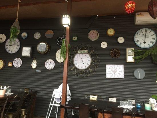 Auburn, Australia: Wall of clocks adds a unique touch