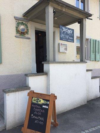 Weinfelden, Ελβετία: Der Eingang mit der Ankündigung der Metzgete