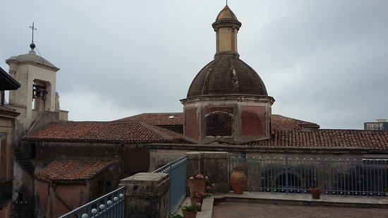 Acireale, Italy: View from the roof terrace