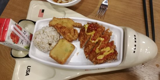 Chilgok-gun, South Korea: This is the cheese cutlets ^^ A lot of cheese comes ^^