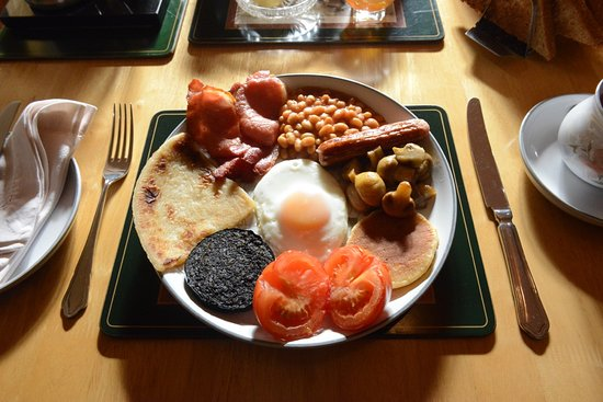 Drummore, UK: One of our many breakfasts