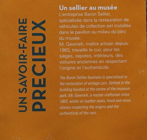 Rochetaillee-sur-Saone, ฝรั่งเศส: Le flyer du musée de l'automobile Henri Malatre