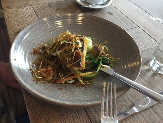 Buoy and Oyster : Wayne's lunch of Local fish and veg