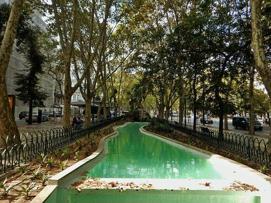 Avenida da Liberdade : One oft he pools along the park area