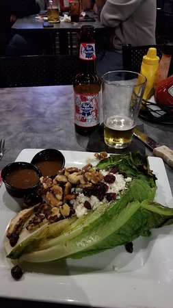 Wyoming, MI: Grilled Romaine Chicken Salad with sweet onion vinegarette