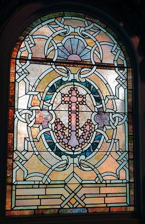 Saint Ann's Church: Anchor Stained Glass Window