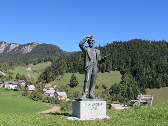 Spodnja Sorica, Slovénie : Ivan Grohar Statue