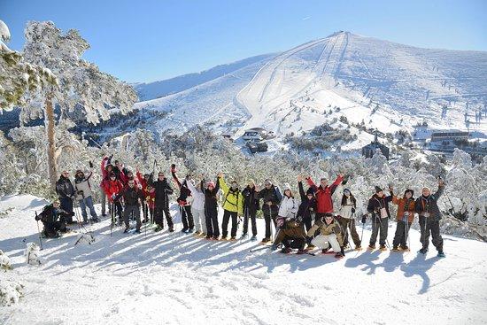 Talamanca de Jarama, Ισπανία: Raquetas de nieve en la sierra de Madrid