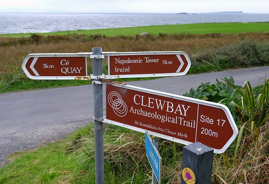 Clare Island, Ireland: on the road to Clare Abbey