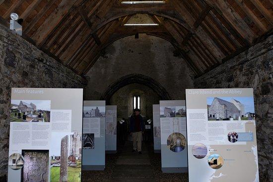 Clare Island, Ireland: inside clare abbey