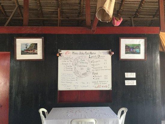 Atauro, Doğu Timor: Manukoko Rek Menu