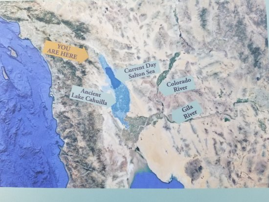 Cahuilla Tewanet Scenic Overlook: Map showing the Ancient Lake Cahuilla