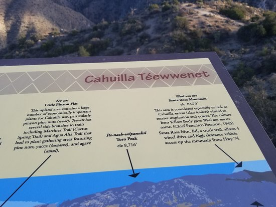 Mountain Center, แคลิฟอร์เนีย: The Indian Name has been changed to be more easily pronounced - Cahuilla Tewanet