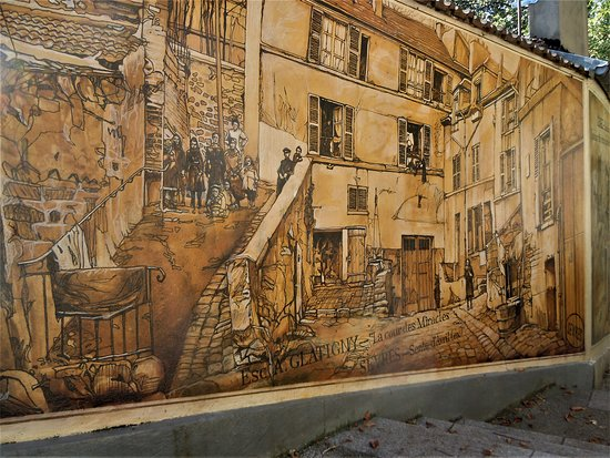 Fresque Sente d'Avril - La Cour des Miracles