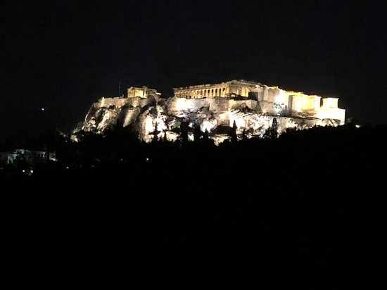 Thissio View: View of the Acropolis, a bit distant