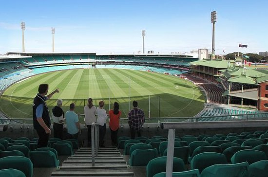 Bak scenene: Sydney Cricket Ground...
