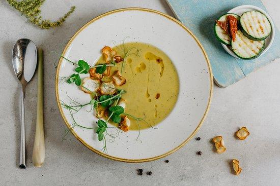 Krem Z Cukinii Zucchini Cream Soup Restauracja Patio Wroclaw