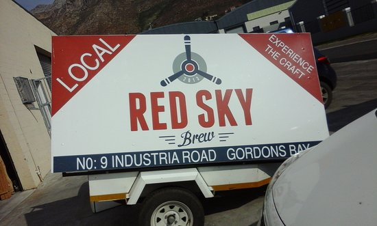 Red Sky Brew: You find this craft brewery only 30 minutes from Capetown in Gordon's Bay! RedSkyBrew!