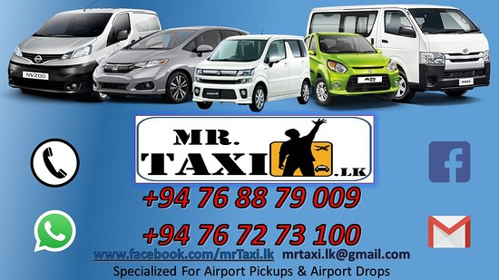 Negombo, Sri Lanka:  Mr.Taxi.lk is Specialized for Airport Pickups & Drops