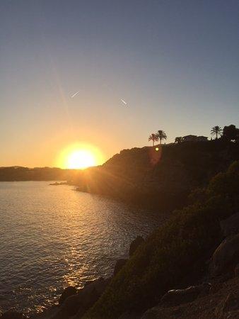 Cala Llenya, España: Vue coucher du soleil