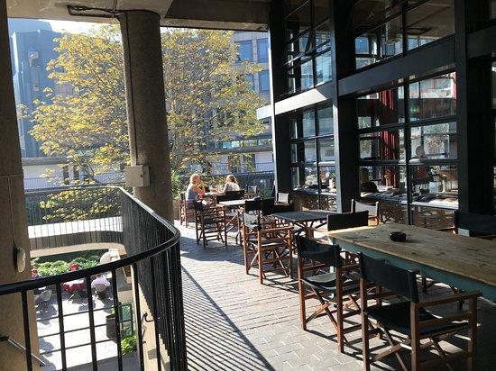 Balcony Picture Of London Wall Bar Kitchen Tripadvisor