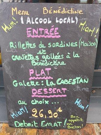 Yport, Francja: Notre Menu spécial, Alcool Local. A découvrir...