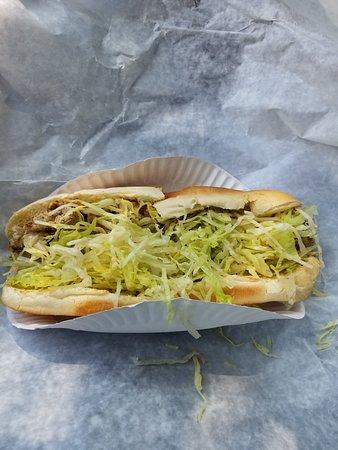 Pembroke, MA: I love the grilled chicken sub.