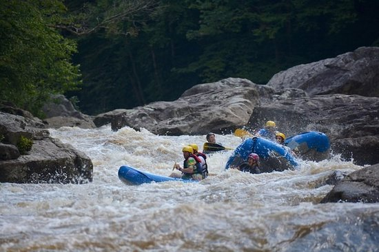 Friendsville, MD: In the heart of the gorge Triple Drop rapid on the world famous Upper Yough