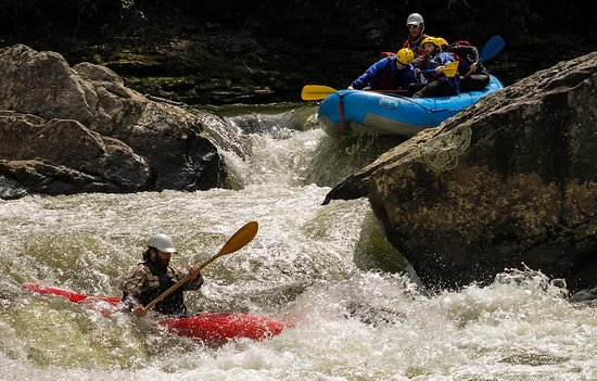 Friendsville, MD: Meat Cleaver rapid on the World class Upper Yough