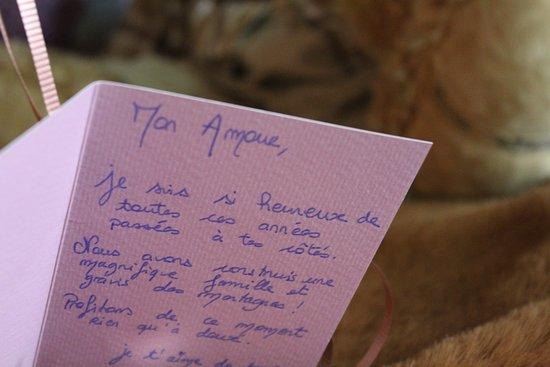 Message Damour Romantique Picture Of Au Refuge Des 3 Ours