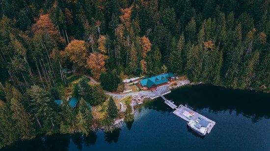 Desolation Sound, Canada: Aerial View of Homfray Lodge