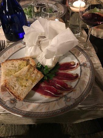 Moncenisio, Italy: L'antipasto con speck d'Oca