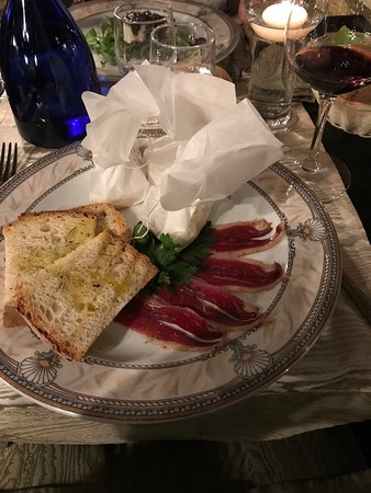 Moncenisio, Italie : L'antipasto con speck d'Oca