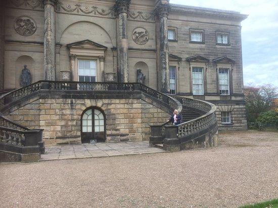 Kedleston, UK: The back of the mansion