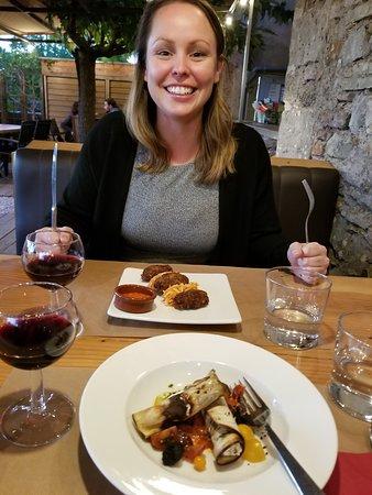 Puycelci, ฝรั่งเศส: Eggplant starter