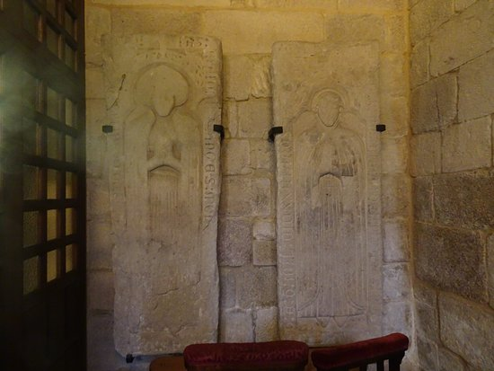 panels in the wall suggest burial tombs picture of iglesia de