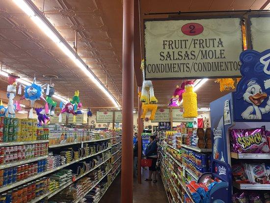 El Burrito Mercado: A row in the grocery store