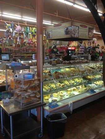 El Burrito Mercado: bakery/deli section