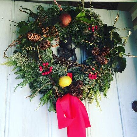 Mayfield, UK: A Christmas door!