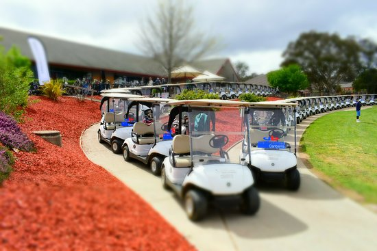 Nicholls, Australia: Ready to go for the FGD Charity Golf Event at Gold Creek Country Club.