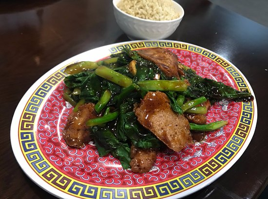 West Reading, PA: All-vegan beef with broccoli rabe at Chen Vegetarian House in Reading, PA.