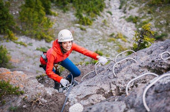 バンフ・ヴィア・フェラータでの登山アドベンチャー