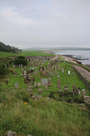 Kintyre Peninsula, UK: St. Columba's chapel and cemetry