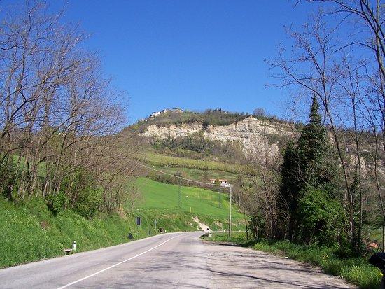 Mercato Saraceno, Italy: veduta di monte sasso aprile 2006