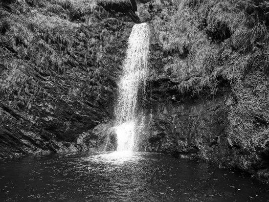 Llanrhaeadr ym Mochnant, UK: The base of the falls
