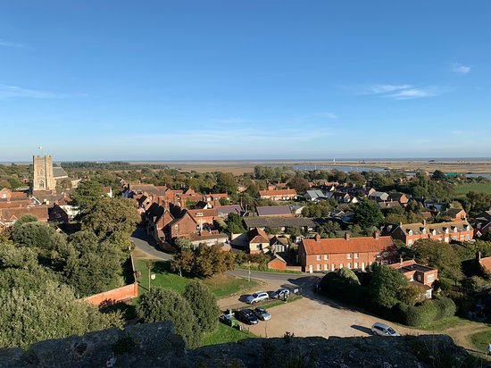 View of Orford Town from top of the Castle