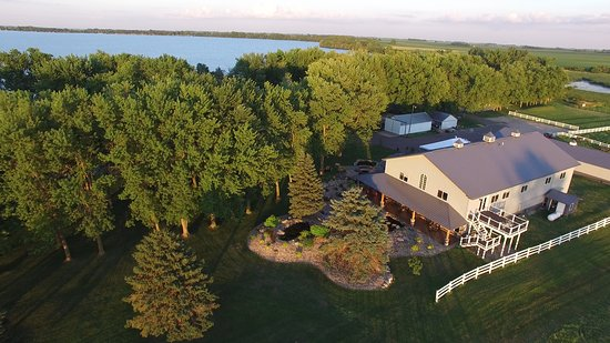 Round Lake, MN : An overhead shot of the Winery, Tasting Room and Tank Room.