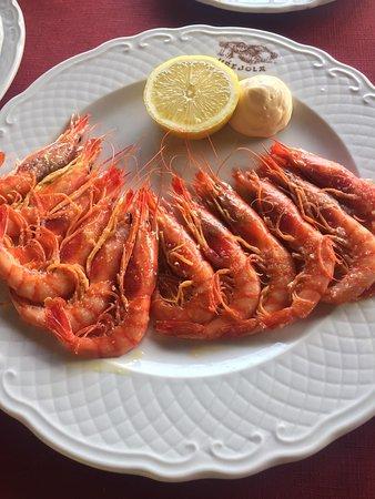 Lezama, Spanien: Increíbles estas gambas de Huelva hoy.