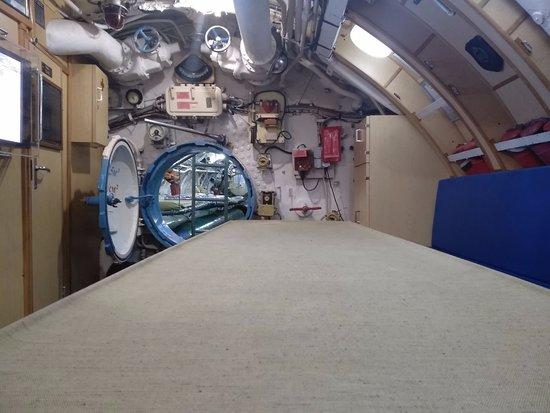 Музей подводная лодка С-189 : вид на отсеки
