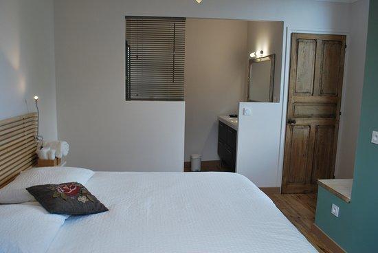 Castetnau-Camblong, France : chambre avec douche et toilette séparées